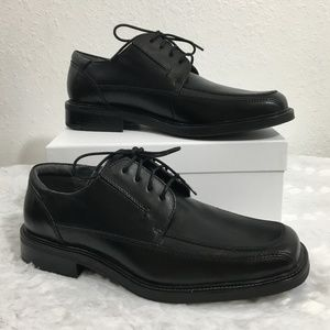 Dockers Pro Style Black Leather Comfort Oxford 9M